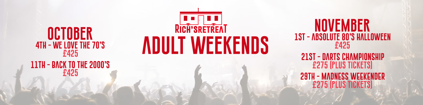 Adult Weekend Oct Nov 2019